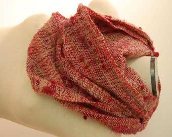 Extra Long Scarf Hand Woven Scarf Wool Scarf Wool Sash Weaving Handwoven Scarf Handwoven Shawl Women's Scarf Pink Scarf Rustic Scarf Fibre