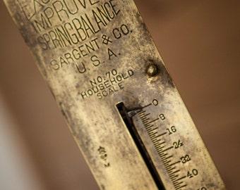 Old Vintage Spring Balance Excelsior Improved Brass