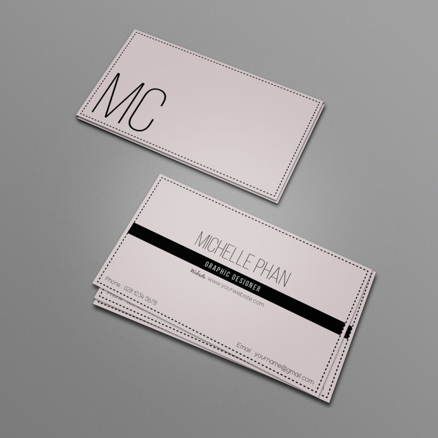 elegant business card template modern chic business card