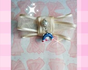 Chiffon Hello Kitty ~ Hairclip bow