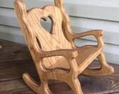 Wooden Large Rocking Chair Doll Bear Decoration Decorative Primitive