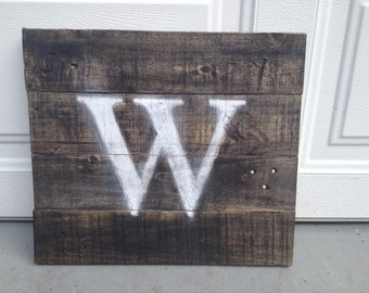 Personalized Monogram Wooden Sign