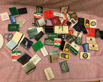 Lot of 60 matchbooks from allover USA and bermuda