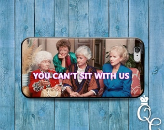 iPhone 4 4s 5 5s 5c SE 6 6s 7 plus iPod Touch 4th 5th 6th Generation Case Funny Custom You Can't Sit With Us Quote Cute 90s Show Phone Cover