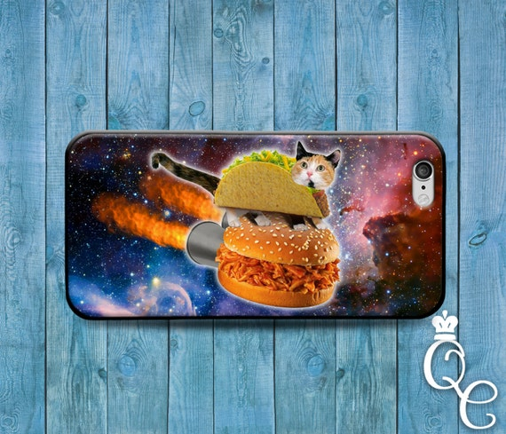 iPhone 4 4s 5 5s 5c SE 6 6s 7 plus iPod Touch 4th 5th 6th Generation Cover Funny Cat Ride Taco Sloppy Joe Cute Animal Lover Fun Cats Case