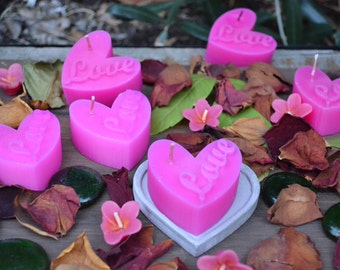 Love Heart Candle x6
