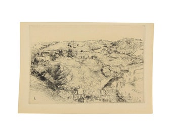 EDMOND CHARLES KAYSER – Ferme en Corrèze, 1912 Etching