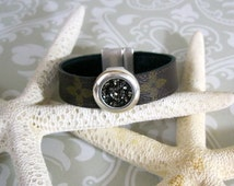 "100% Authentic LOUIS VUITTON Monogram canvas upcycled/repurposed Bracelet! ""The Simone"""