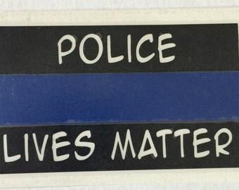 Police Lives Matter / Thin Blue Line Vinyl Decal/bumper sticker