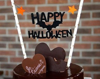 Halloween cake Topper Set - Party Decoration