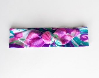 Floral topknot headband, baby, toddler, kids, bow headband, kids accessories, hair accessories