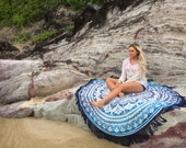 Ombre bohemain mandala roundie beach throw