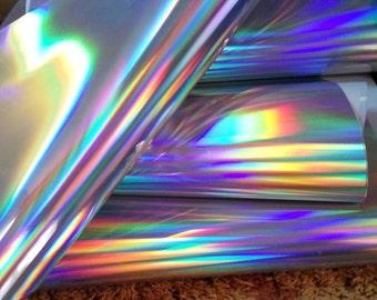 heat transfer vinyl Textile Vinyl  hologram for clothes  Yeard/Meter x 19in (50cm)