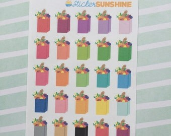 Mini Grocery Bag Stickers