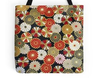 Golden Chrysanthemums Tote Bag