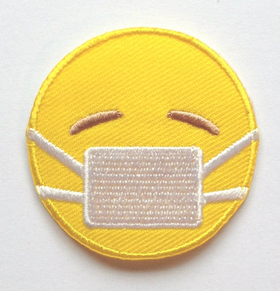 emoji patch embroidered iron on badge applique motif diy