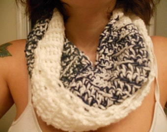 White, Blue, and Green Infinite Scarf