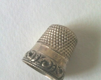 Sterling thimble #11