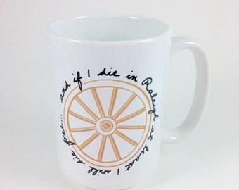 North Carolina NC Mug Wagon Wheel Mug