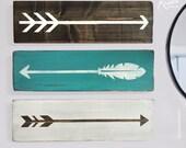 Three piece arrow set