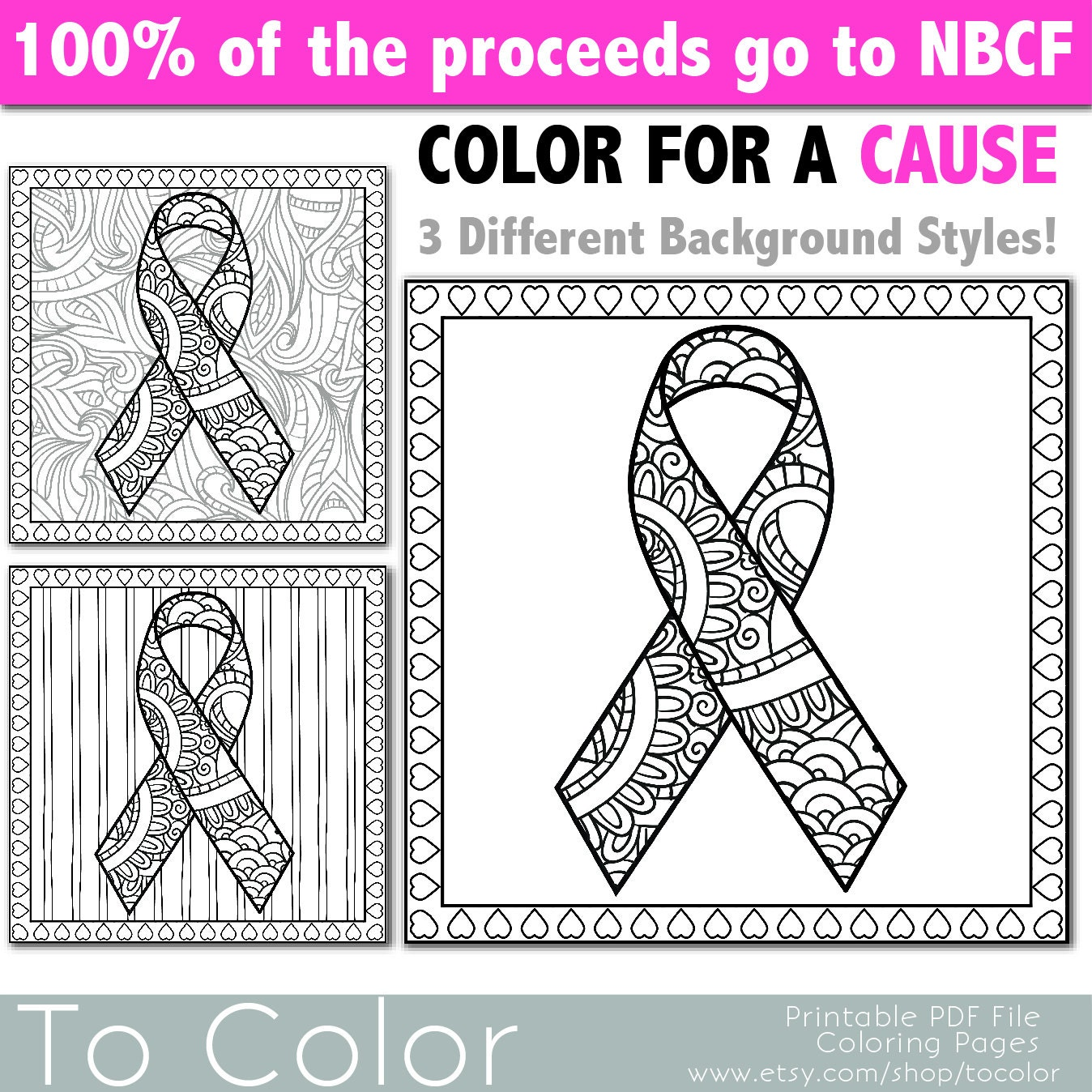 cancer ribbons coloring pages - photo#38