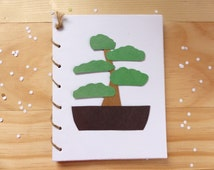 Bonsai Tree Notebook   Plant Spiral Notebook Journal
