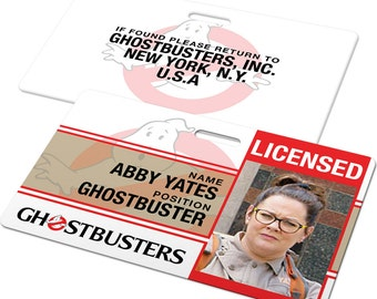 Custom ID Card Badge: Ghostbusters Ghostbuster, Cosplay Costume Gift, Ghost buster, Birthday, Christmas present