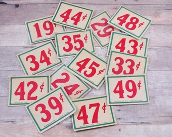 Antique Price Tags-Vintage Price Tags-Vintage Antique General Store Tag-Price Per Tag