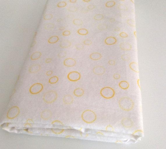 Yellow Baby Wrap, Blanket, Swaddle 100 cm x 120 cm, Bubbles Pattern,Soft 100% Cotton