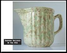 Woodland Glaze Morton Pottery Yellow Ware Pitcher