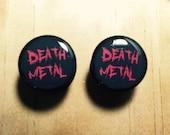 1 pair of Death Metal ear plugs gauge pick a size