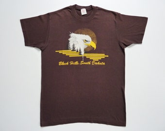 Vintage 80's Summer Tee-Shirt South Dakota Eagle