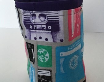 "Limited Edition Custom Dice Bag - ""Mixtape"" pattern - Choice of Interior Color"