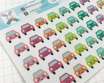 Car kawaii icon stickers - K2