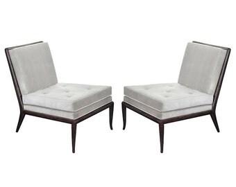 Modern mid century style slipper lounge chairs