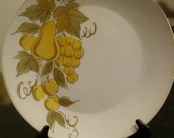 Mikasa Focus-Shape Golden Valley Platter/12  inches/Chop Plate/ 2008-kj