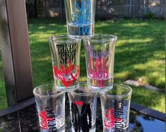 Shot glasses your favorite design