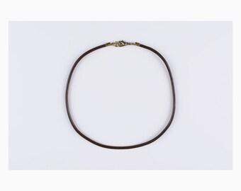 Black, Brown Leather Choker - Custom Length, Minimal Capsule Jewelry