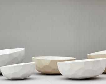 bowl, ceramic geometric bowl, salad bowl, kitchenware , table centerpiece, large fruit bowl, dish, ceramic, home decor, kitchen decor, gift
