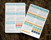 Mini Calendar:  Matte Removable Planner Stickers (A5 or Bound) - Matched to Inkwell Press Planners