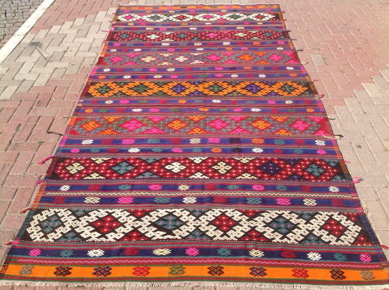 Very kilim rug pink orange | Furniture Shop UO72