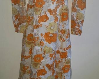 Tangerine dream 70s vintage maxi dress FLASH SALE