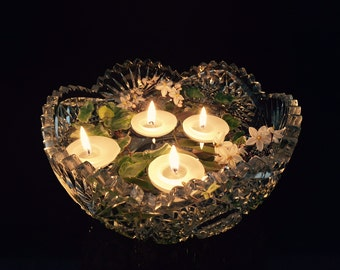 24 premium white floating candles