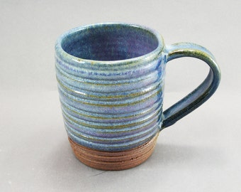 Pottery Coffee Mug Rutile Blue CHUN25