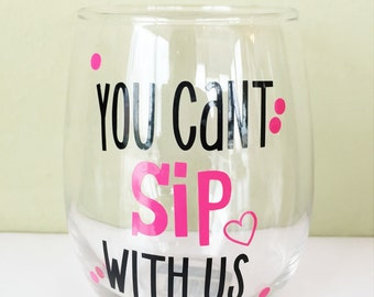 Mean Girls Wine Glass with Custom Name