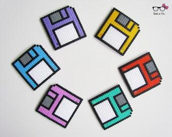 Geek floppy disk coasters