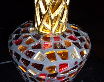 Scented Mosaic Glass Fragrance Oil Lamp