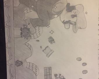 Mario drawing