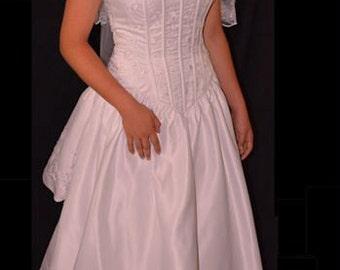 Vintage Pale Pink Corset Gown