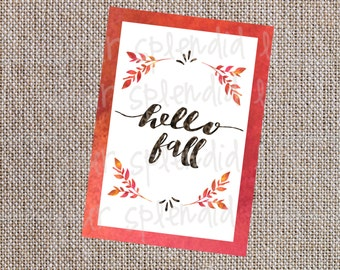 Hello Fall Printable